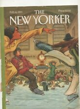 New Yorker Magazine COVER ONLY Feb 6th 1995  George Riemann Art Cover Grand Cent