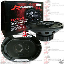 "BRAND NEW RENEGADE 6x9-INCH 6x9"" 3-WAY CAR AUDIO COAXIAL SPEAKERS PAIR 600W MAX"