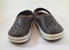 UNISEX CROCS CROCBAND LINED  SLIP-ON CLOGS BROWN/WHITE  SIZE M9/W11