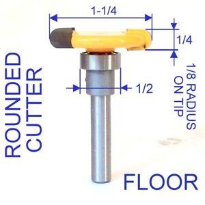 "1 pc 1/4"" SH Flooring for 1/8 Radius Rounded Slot Floor Router Bit S"