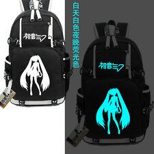 Vocaloid Hatsune  miku backpack Luminous School laptop Noctilucence Bag