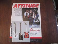 CHARVEL / JACKSON GUITAR AD - SAVATAGE / TSO MEMBERS - 1990's GUITAR AD