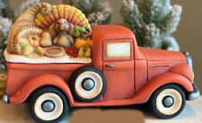 Ceramic Bisque Ready to Paint Happy Thanksgiving Jalopy Truck