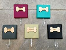Personalised dog lead holder/hook. Various Colours For Pet. House warming gift.