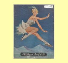 1952 Holiday on Ice Skating Program G/VG - Light Blue Cover Discolorations
