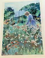"""Sidonie Caron German/Oregon Artist Lithograph Signed & Numbered """"Island Garden"""""""