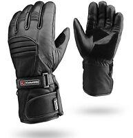 Winter Leather Motorbike Gloves Reflective Motorcycle Waterproof Padded