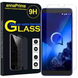 Vitre verre trempe film de protection d'écran Haute Qualite Pour Serie Alcatel
