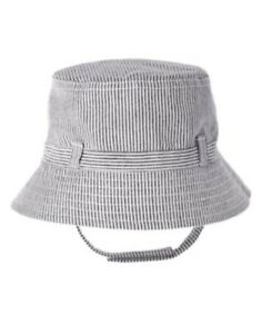 GYMBOREE COASTAL BREEZE NAVY STRIPE BUCKET HAT 0 3 6 12 18 24 NWT