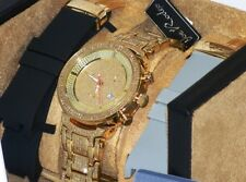 New Authentic Mens Joe Rodeo master jjm14 gold tone 4.75.ct.aprx.Diamond Watch
