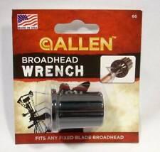 Allen Archery Broadhead Wrench #66 Bowhunting Fits Any Fixed Blade Broadhead