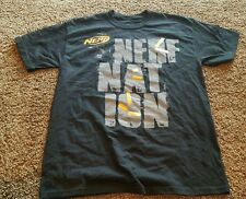 Nerf Nation T Shirt Black Size Medium M/ Foam Dart Graphic Orange Official Rare