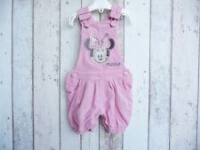 Cute Baby Girl Minnie Mouse Corduroy Short Dungarees - Disney Baby 3 - 6 months