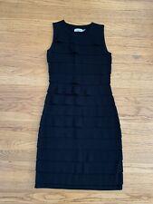 New Calvin Klein Womens sz XS black tiered sweater dress