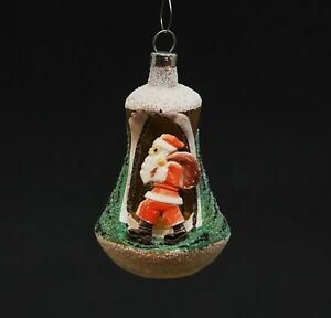 Blown Glass Kugel - Diorama Ornament, Santa / Nikolaus (# 13596)
