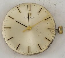 Vintage OMEGA CAL 601 17j Complete Watch Movement And Dial Set.