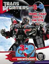 NEW - Transformers More than Meets the Eye: 3D Book with Glasses