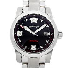 Eberhard Scafomatic 42mm Automatic Black Dial Mens Bracelet Watch 41026.2