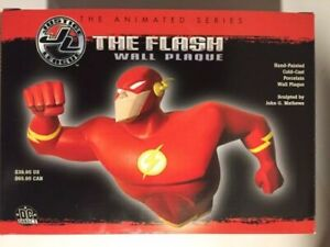 The Flash ~Porcelain Wall Plaque~ Justice League Animated Series~VHTF!~Open Box!