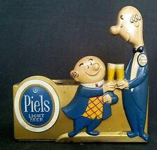 Piels Light Beer Metal Advertising Stand Display with Bert Harry Piels Excellent
