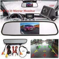 4.3'' TFT LCD Car Monitor Mirror & Backup Reversing Rear View Cam Camera Kit