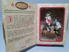New ListingVtg Enesco Christmas Ornament Santa Nordic Track Moving Parts Limited Edition