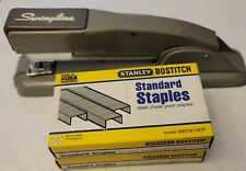 New Listingswingline 27 Vintage Gray Office Desk Metal Stapler 2 Boxes Staples Usa