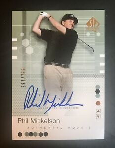 2002 Upper Deck SP Authentic Phil Mickelson RC Auto 297/799