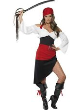 ADULT WOMENS SASSY PIRATE WENCH COSTUME WITH SKIRT COSTUME PARTY - SMALL