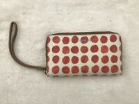 Coach Wallet Wristlet Accessories Bleecker Zippy Painted Dot White Red Small