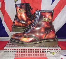 England Made*Rare*Red Black Fire Dr Doc Martens*Lava Flame*Vintage*Grunge*UK 6