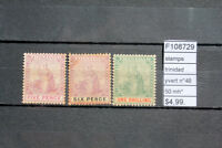 STAMPS TRINIDAD YVERT N°48/50 MH* (F108729)