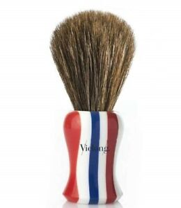 Vie-Long Horse Hair Shaving Brush, Barber Pole Design Handle, New