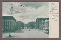 Watertown New York Looking Up Washington Street 1906 Undivided Back Postcard