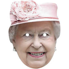 Queen Elizabeth 2 Pink Hat Royal Card Face Mask - All Our Masks Are Pre-Cut!