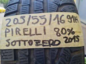 4 Pneumatici Usati 205/55/16 Gomme Invernali Pirelli