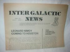 Vintage Star Trek Promo Inter Galactic News 1983 Newspaper Vol1 #1 Nimoy Spock