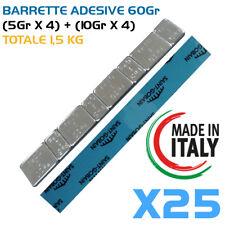 Pesi adesivi per equilibratura cerchi lega 25Pz Contrappesi MADE IN ITALY