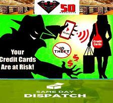 2 x CARD GUARDS RFID Chipped Credit Debit Card Protector // SKIM CARD / SKIMMING