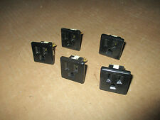 Qty 5- Eagle Snap In Grounding Outlet Receptacle 125V - 15A 4067-4BK;1