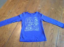7fdc7142ebd11 Girl s Old Navy Long Sleeved Purple With Silver Glitter Shirt Size S(6-7