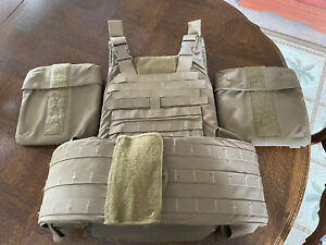 Medium USMC IMTV Plate Carrier w/ All Soft Inserts & soft Side Armor pouches