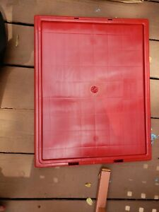 Lid for Stack And Nest Shipping Containers SNT190, SNT195, Red, Lot of 6