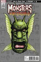 Monsters Unleashed Comic 7 Cover C Legacy Headshot Variant Mike McKone Marvel