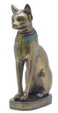 Veronese Bronze Figurine Egyptian Goddess Bastet Cat Statue Gift Home Decor