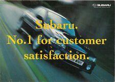 Subaru 1999-2000 UK Market Foldout Brochure Impreza Legacy Outback Forester