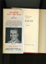 DEADLIER THAN THE MALE-JAMES GUNN-1940 1ST ED/1ST PRT HB/DJ-VG+ RARE ICONIC NOIR