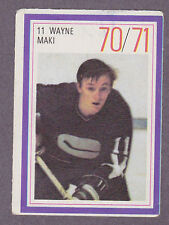 1970-71 Esso Hockey Stamp Wayne Maki Vancouver Canucks