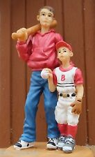 Father & Son Baseball Miniature Figure for your Model Train / Modeling Dioramas