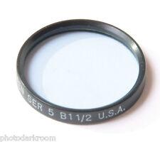 Tiffen Series V 5 B 1 1/2 Blue Filter - USA - Fair - USED V627